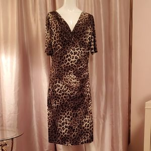 Evan Picone Leopard Print Dress